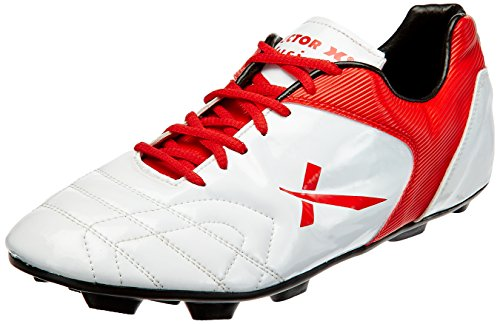 Vector X Fusion Football Shoes, UK 11 (White/Red)