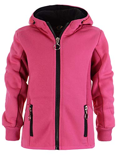 Mädchen Kinder Kapuzen Pullover Hoodie Sweat Shirt Jacke Kapuze 22865 Pink 134