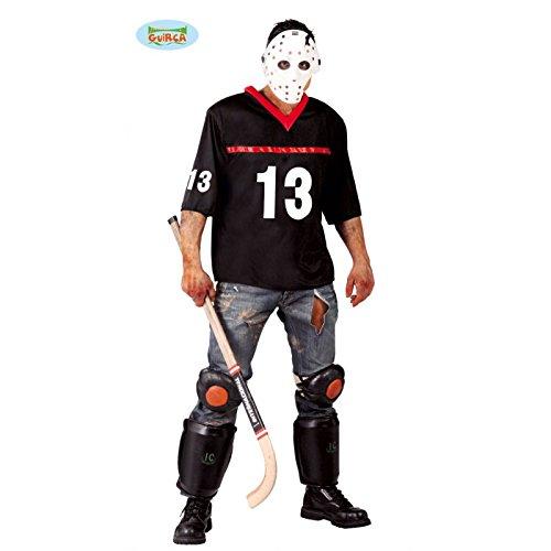 Horror Hockey Spieler Kostüm für Herren Gr. M/L, (Mörder Verrückte Kostüm)