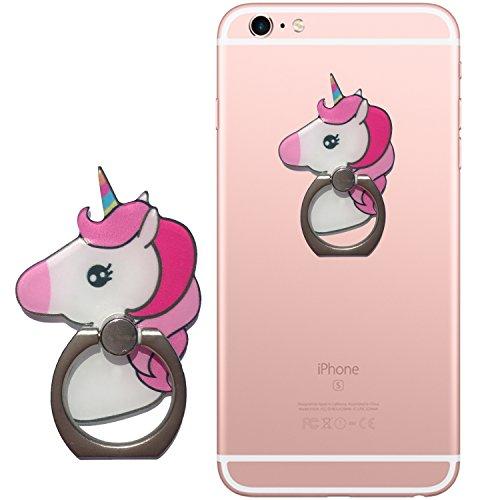 EinhornLiebe Fingerhalterung Handy Einhorn Bunt; Smartphone Halterung Finger Grip Halter Fingerhalter Smartphone iPhone (Bunt)
