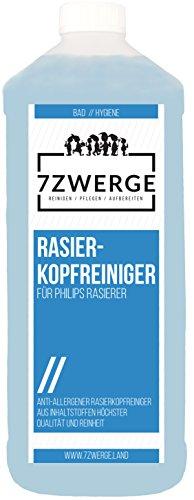 7Zwerge Rasierkopfreiniger - Scherkopfreiniger für Philips Elektro Rasierer - Nachfüllflüssigkeit (1 x 1000 ml)