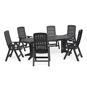 Amazonde Oskar Gartenmöbel 61 Sitzgruppe Tisch 220 X 95 Cm