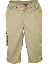 Hombre Duke Kingsize Cargo Pantalones Cortos con forma de bolsillos en la pierna CMOSj