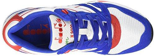 Diadora N9000 Nyl, Scarpe Low-Top Unisex Adulto Multicolore (C6122 Blue Occhi/Rosso)