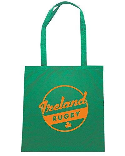 T-Shirtshock - Borsa Shopping TRUG0184 ruggershirts ireland rugby2 logo Verde