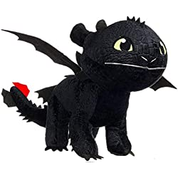 Felpa Dragon Toothless Desdentao 90cm Muy Grande Negro Dark Fury Peluche Original Dragon Trainer Black