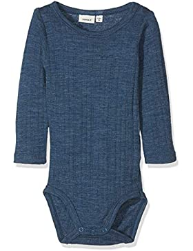 NAME IT Baby - Jungen Strampler Nbmwang Wool Needle Ls Body Noos