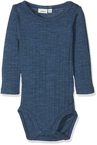 NAME IT NAME IT Baby-Jungen Strampler NBMWANG Wool Needle LS Body NOOS Blau (Ensign Blue) 50