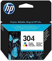 HP 304 Inktcartridge Cyaan, Geel, Magenta, 3 kleuren Standaard Capaciteit (N9K05AE) origineel van HP