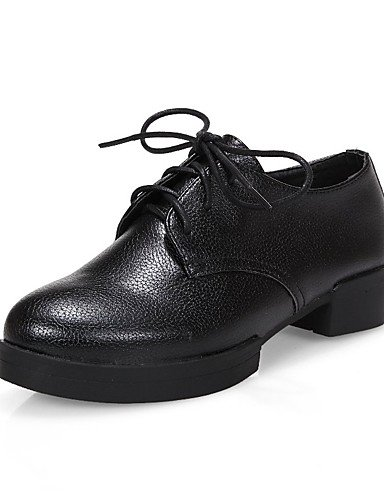 WSS 2016 Chaussures Femme-Bureau & Travail / Habillé / Décontracté-Noir / Blanc / Argent-Gros Talon-Talons / A Plateau / Confort / Bout Arrondi- black-us7.5 / eu38 / uk5.5 / cn38