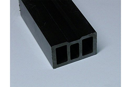 Woodstore Handelsgesellschaft BUKBA406027 Unterkonstruktion, 40 x 60 mm, anthrazit, 3, 60 M lang für WPC/ Bpc Terrassendielen