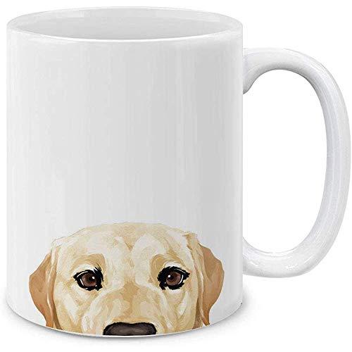 Cream Labrador Retriever Dog Keramik Kaffeegeschenkbecher Teetasse, 330 ml