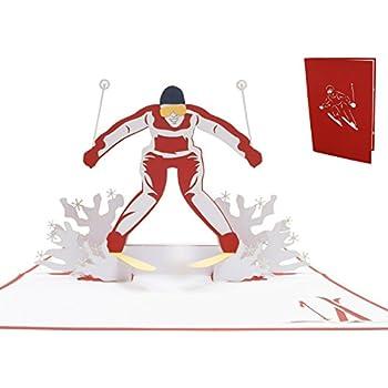 Carte Anniversaire Skieur.Lin Pop Up Cartes Sport Cartes D Anniversaire Pop Up