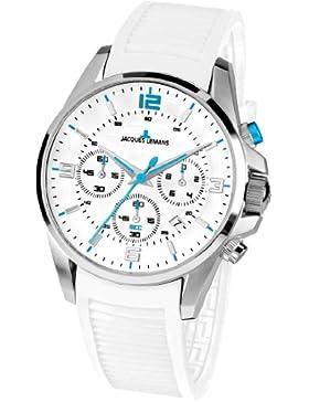 Jacques Lemans Herren-Armbanduhr XL Liverpool Chronograph Quarz Silikon 1-1672J
