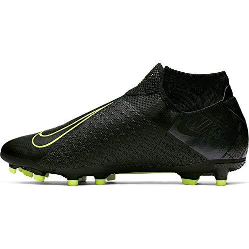 Nike phantom vsn academy df fg/mg, scarpe da calcio unisex-adulto, multicolore black/volt 007, 42.5 eu