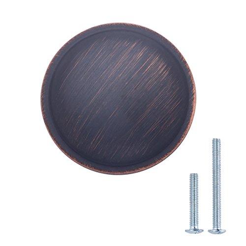 AmazonBasics - Schubladenknopf, Möbelgriff, stark gewölbt, Durchmesser: 3,02 cm, Geöltes Bronze, 10er-Pack