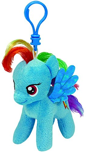 Carletto Ty 41105 - My Little Pony Clip - Rainbow Dash, Plüschtier, 10 cm (Plüsch Dash Rainbow)
