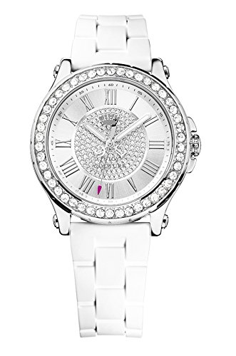 juicy-couture-pedigree-womens-quartz-watch-with-silver-dial-analogue-display-and-white-plastic-strap