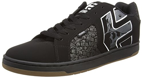 Etnies Metal Mulisha Fader 2, Chaussures de Skateboard Homme, Noir (Black/Grey/White 581), 45 EU