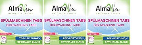 AlmaWin Spülmaschinen-Tabs, 3 x 25 Stück