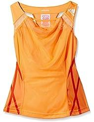 adidas Tops Adizero Tank Girls - Camiseta sin mangas de running para niña, color naranja, talla 116 cm