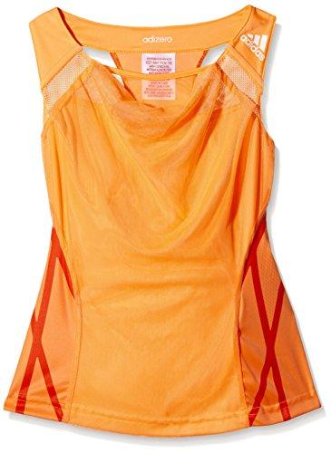 adidas Mädchen Tops Adizero Tank Girls, Orange, 128, 0054260617500034 Preisvergleich