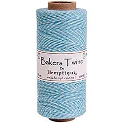 Hemptique 125 m/2 bobina de hilo de algodón cordón de pastelero de fuerza media, Blue Moon