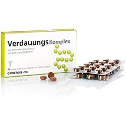 Verdauungs Komplex 100% natürliche Tabletten gegen Magenbeschwerden wie Verstopfung medikament hausmittel, Blähungen, Bauchkrämpfe oder Völlegefühl, verdauungsfördernd Reizdarm Kapseln
