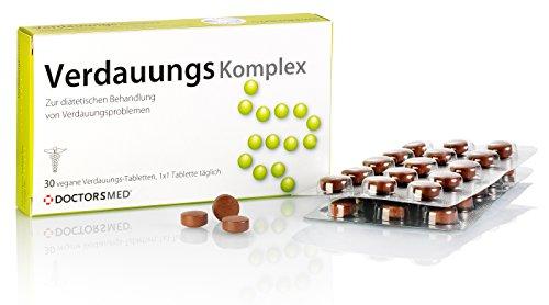 Verdauungs Komplex 100% natürliche Tabletten gegen Magenbeschwerden wie Verstopfung, Blähungen, Bauchkrämpfe oder Völlegefühl, verdauungsfördernd Reizdarm Kapseln