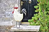 Adobe Royal ___gallina Hen Statua ornamentale, metallo, 33 cm