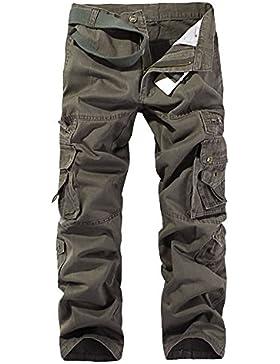 Pantalones Cargo Para Hombre - Pantalon De Chandal Pantalón Jogging Broncearse Verde del ejército 31