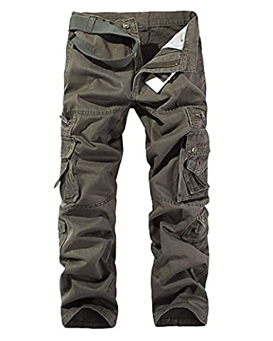 Mens Casual Cargo Trousers Cargo Pants Cotton Blend Military with Multiple Pockets