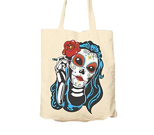 Beauty Queen Sugar Skull Tote Bag Tote Bag