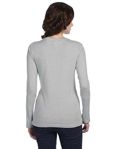 Anvil: Ladies Sheer LS Scoop Tee 399 grau - silber