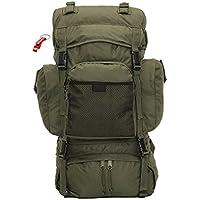 Profi Trekking Rucksack 55 L Kampfrucksack oliv + AOS-Outdoor® Schlüsselanhänger preisvergleich bei billige-tabletten.eu