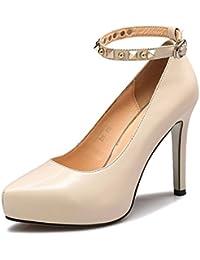 Zapatos de Mujer Aemember Correa Taiwán High-Heeled Zapatos impermeables a la luz de los singles femeninos ,39...