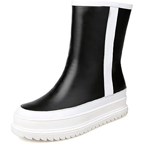 scarponi da neve femminile della pelle bovina