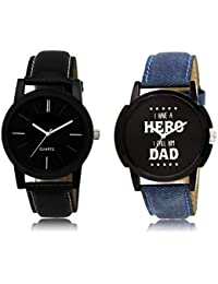 The Shopoholic Black Combo Treny And Precious Black Dial Analog Watch For Boys Watches Stylish For Boys
