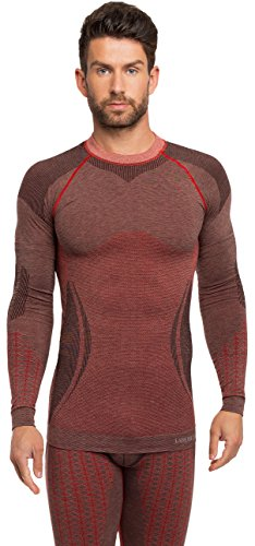 Ladeheid Herren Funktionsunterwäsche langarm Shirt thermoaktiv 50w10 Rot