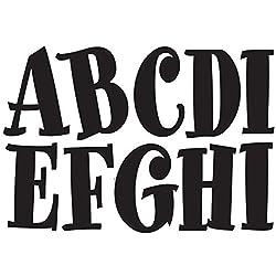 Ashley Productions Spumoni Designer Magnetic Uppercase Letters (57 Piece), Black
