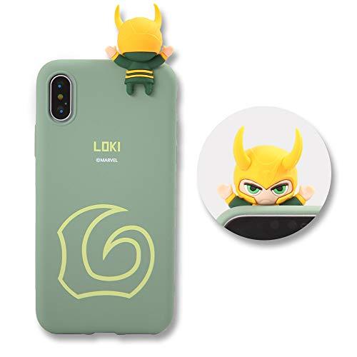 MARVEL KOREA Caso Jalea Marvel Figura para Galaxy S9 (Loki)