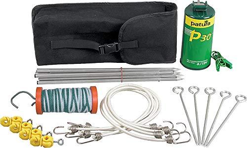 Kit randonneur, 1 électrificateur P30,piquets en alu, sardines, cordes, isolateurs, poignée, ruban, sacoche - 154000