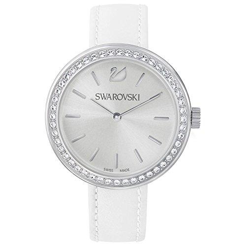 Swarovski Damen Analog Quarz Uhr mit Leder Armband 5095603