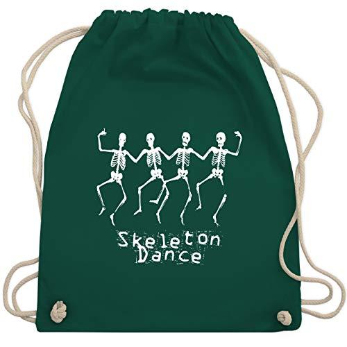 Halloween - Skeleton Dance Skelett Tanz - Unisize - Dunkelgrün - WM110 - Turnbeutel & Gym Bag