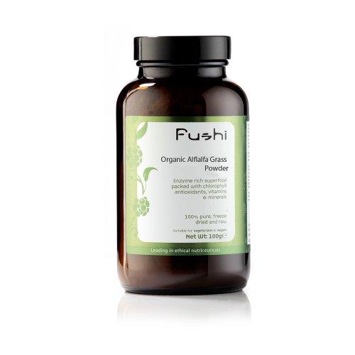 Fushi Poudre de Luzerne cultivée (Alfalfa), Bio, 100g Aliments crus