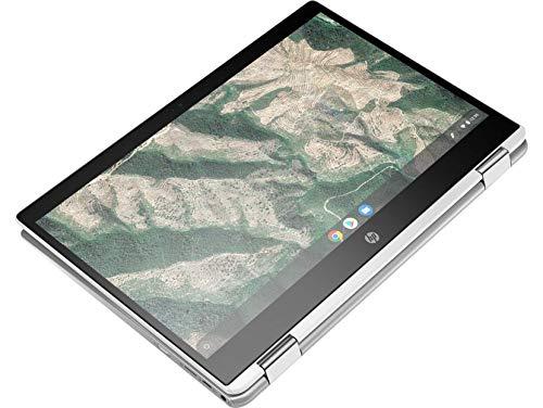 HP Chromebook 14b-ca0015TU x360 Thin and Light Touchscreen 14-inch HD Laptop (4GB/64GB SSD + 100 GB Cloud Storage/Chrome OS/Intel UHD Graphics), Natural Silver Image 5
