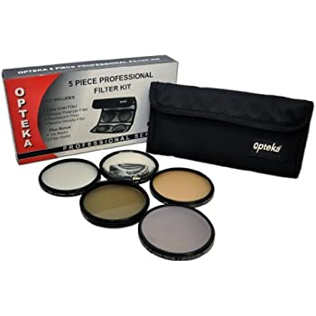 Opteka 52mm High Definition² Professional 5 Piece Filter Kit includes UV, CPL, FL, ND4 and 10x Macro Lens for Nikon 18-55mm f/3.5-5.6G AF-S DX VR, 35mm f/1.8G AF-S DX, 50mm f/1.8D and 55-200mm f/4-5.6G ED IF AF-S DX VR Nikkor Zoom Lenses