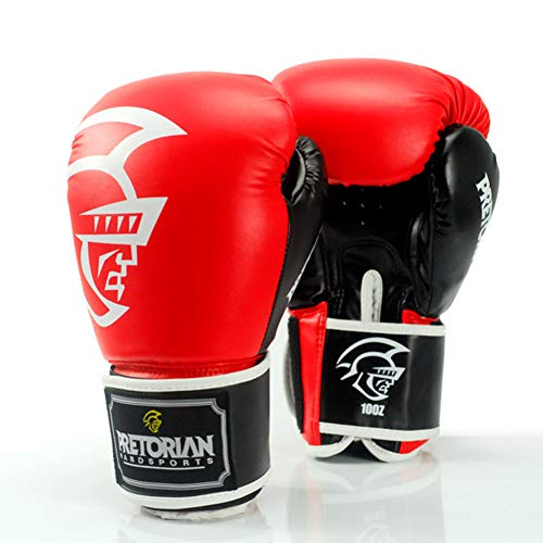 KMCC Guantes Boxeo 10-14 OzLeather Hombre y Mujere GRANT