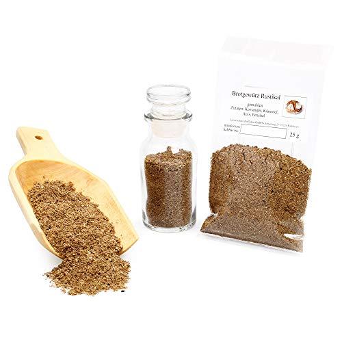 Brotgewürz rustikal, Brot Gewürzmischung, Brotwürzer mit Kümmel & Koriander, Naturgewürz perfekt zum Brot backen, Bauernbrot Gewürz, glutenfrei 25g