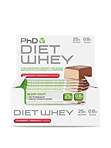 PhD Nutrition Diet Whey Bars 12 x 50g - Cheesecake aux Fraises